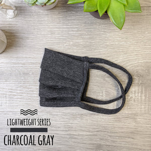 Lightweight Charcoal Gray Face Mask