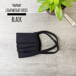 Lightweight Series Black Face Mask