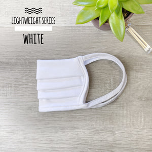 Lightweight Series White Face Mask