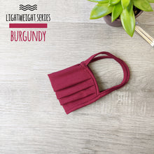 Load image into Gallery viewer, Lightweight Series Burgundy Face Mask