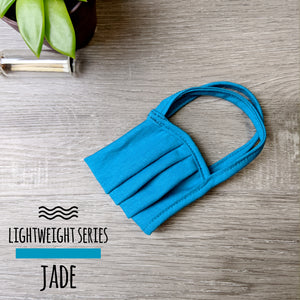 Lightweight Series: Standard Size Face Mask - Pleated Double Layer Cotton Filtration with Cotton Ear Loops