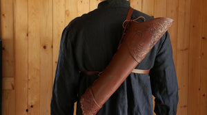 Custom Tooled Archery Back Quiver
