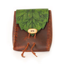 Load image into Gallery viewer, Elf Leaf Belt Pouch Pattern + Tutorial