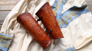 Custom Tooled Bracers