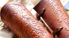 Load image into Gallery viewer, Custom Tooled Bracers