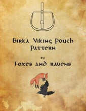 Load image into Gallery viewer, Birka Viking Pouch Pattern