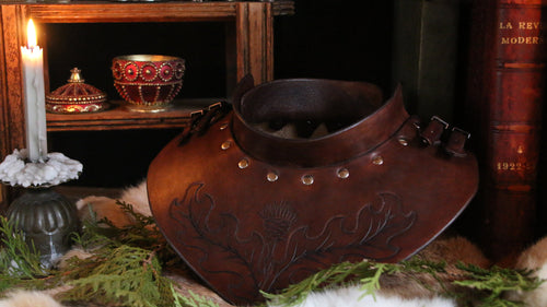 Custom Tooled Leather Gorget