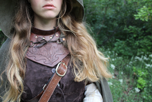 Load image into Gallery viewer, Custom Tooled Leather Gorget