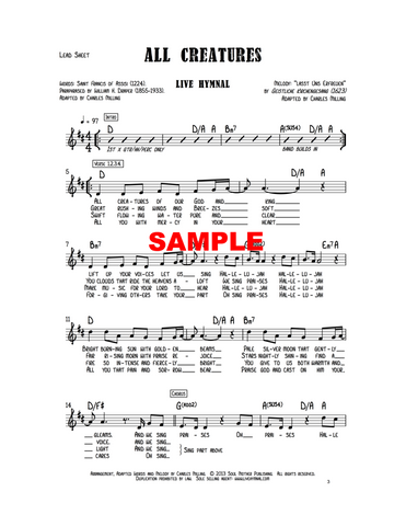 Prelude Lead Sheets, Lyrics, etc (All songs except for Put It On)