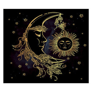 Tarot Tapestry Wall Hanging Black