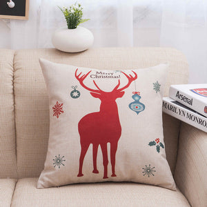 MIHE New Year Cushion Cover Throw Pillows Case Soft Bed Car Seat Covers 45x45cm Pillowcase Christmas Decorations For Sofa BZT06