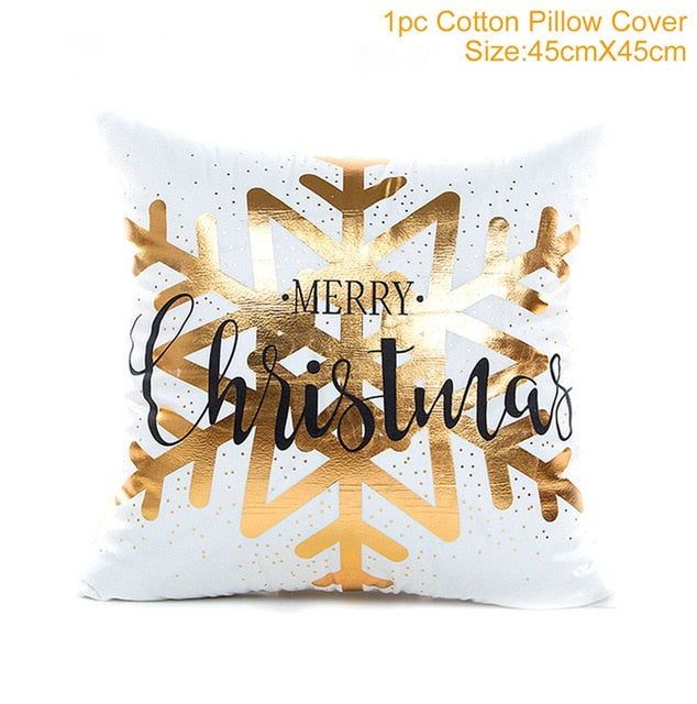 Pillow Case Merry Christmas Decoration For Home 2019