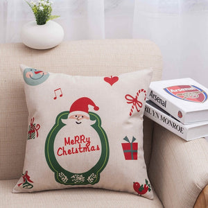 MIHE Christmas Cushion Cover For Home Decoratives Cushions For Sofa Seat Covers Car Pillowcase Soft Bed Pillow Case BZT18