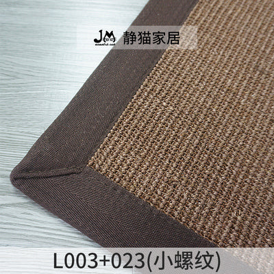 Customizable Stripe Pure natural grass weaving American style Rectangle living room sofa coffee table sisal carpet
