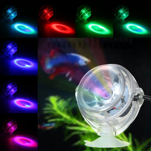 Aquarium Lights LED Waterproof Spotlight Aquarium Lights Europe and America Plugs Suction Cup Aquarium Decoration Light
