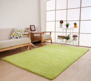Living Room Rug Area Solid Carpet Fluffy Soft Home Decor White Plush Carpet Bedroom Carpet Kitchen Floor Mats White Rug Tapete