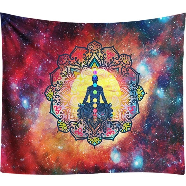 Starry Night Galaxy Decor Psychedelic