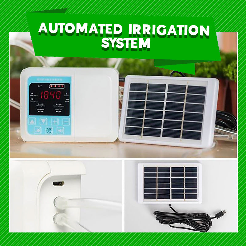 Automatic Plant Watering System Solar Powered Garden Device - ShoppyBay.com