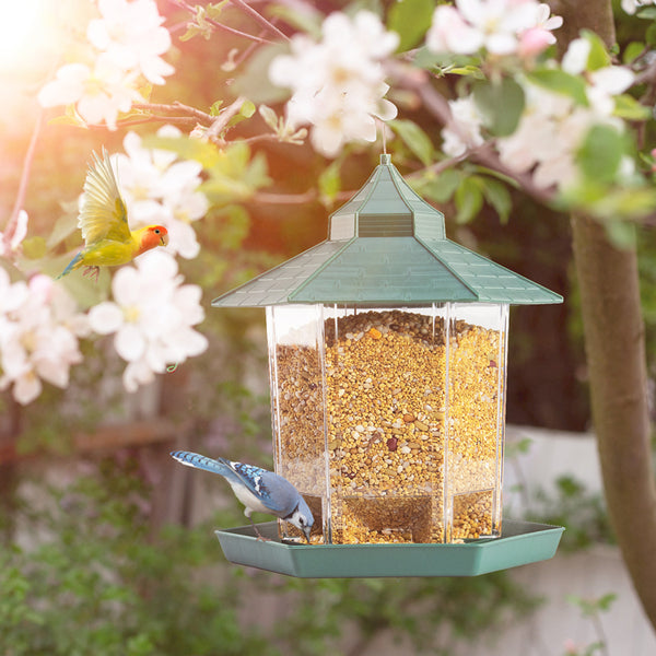 Hanging Bird Feeder Squirrel Proof Gazebo - ShoppyBay.com