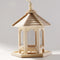 Hanging Bird Feeder Squirrel Proof Wooden House - ShoppyBay.com