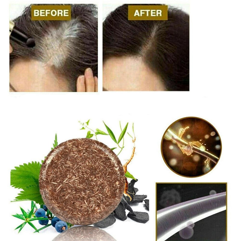 Organic Hair Darkening Shampoo Bar - ShoppyBay.com