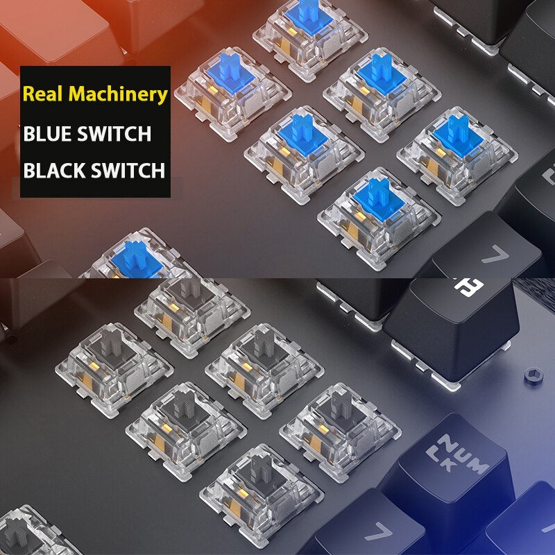 Retro Mechanical RGB Gaming Keyboard - ShoppyBay.com
