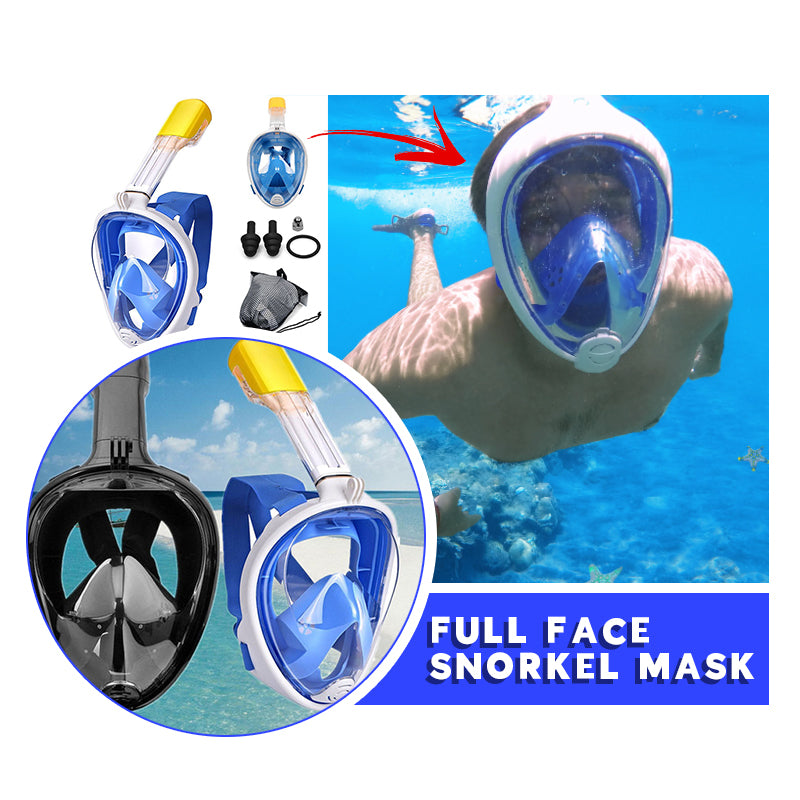 Full Face Snorkel Mask for Go Pro - ShoppyBay.com