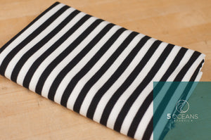 Black and White Yarn Dyed Stripe