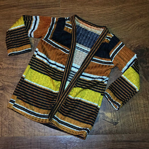 Striped Rib Knit Cardigan