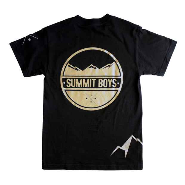 Summit Boys Stamp T-Shirt (Black and Gold)