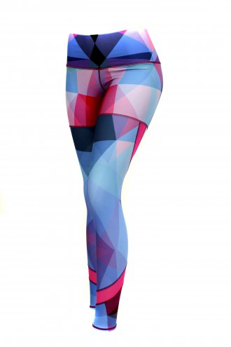 Geometric Mesh Insert Leggings