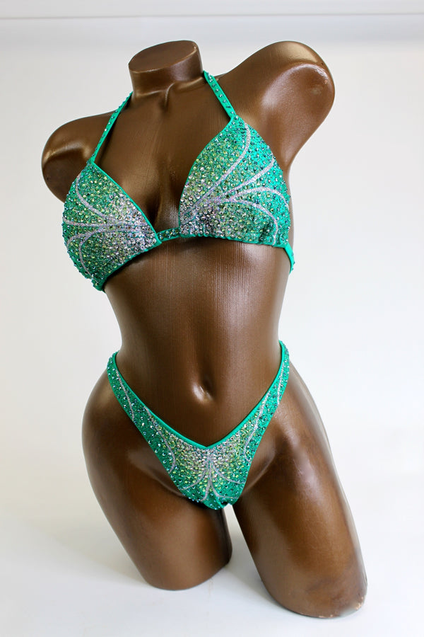 Ireland Green Ombre Figure Competition Suit