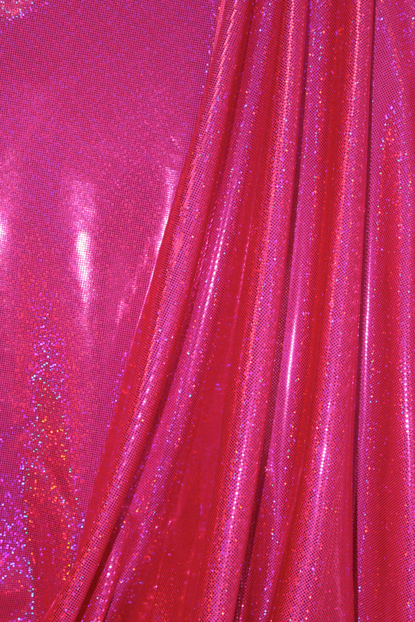 Bright Hot Pink Hologram Spandex