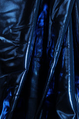 Dark Blue Metallic Spandex