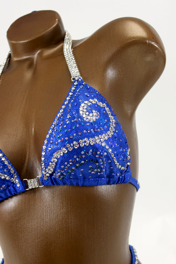 Final Sale Royal Blue Figure Competition Suit