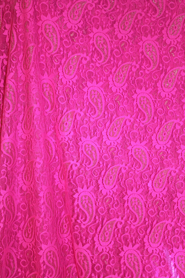 Hot Pink Lace With Gold Foil