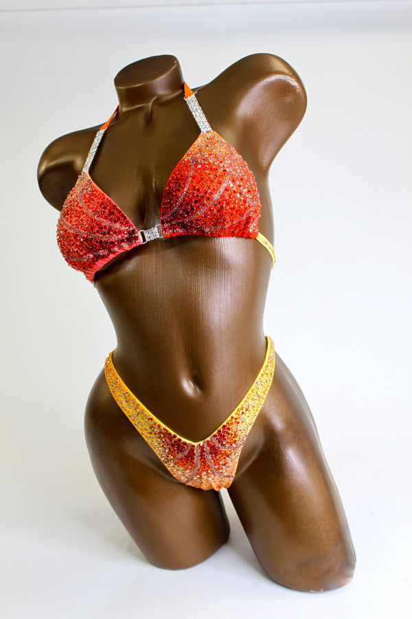 Crystallized Sunset Figure Competition Suit