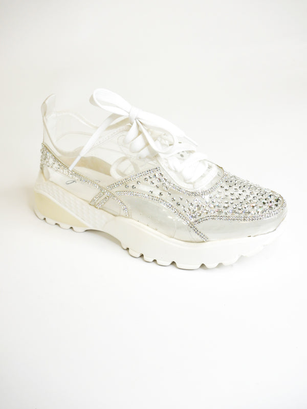 Rhinestone Transparent Sneakers