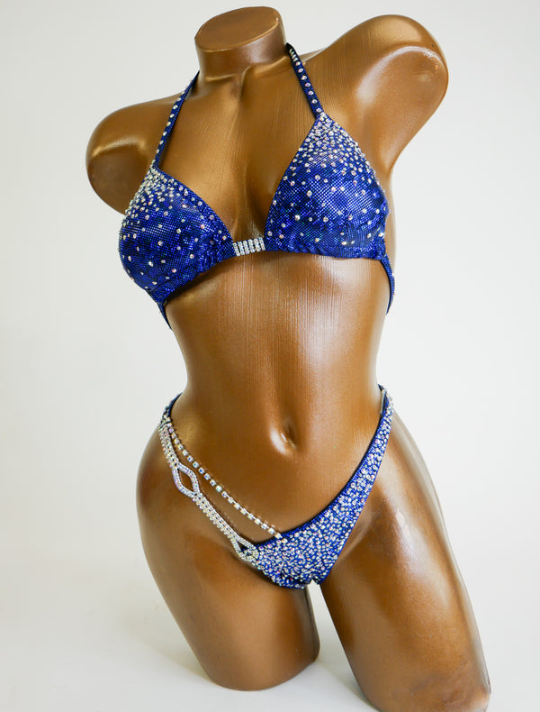 Dark Royal Blue AB Figure Suit