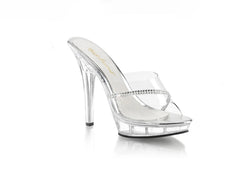 "Lip-101R Clear Shoes 5"" Heel"