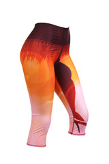 Deer Sunset Crop Leggings