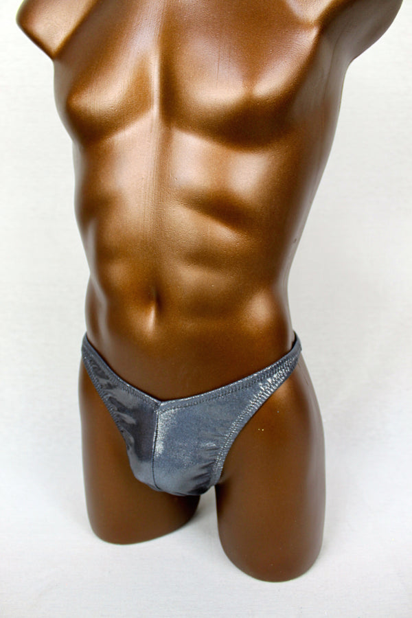 Gunmetal Metallic Spandex Posing Trunks