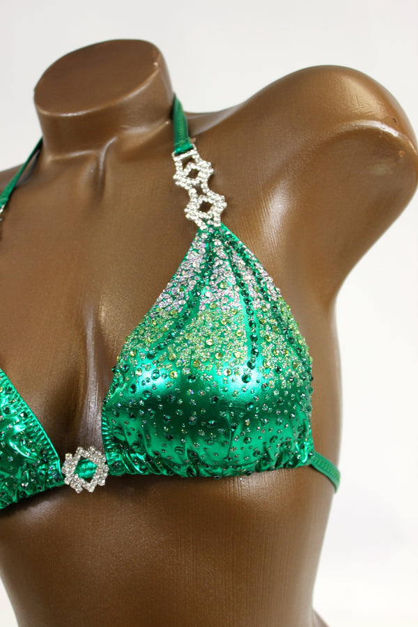 Green Metallic Bikini Suit