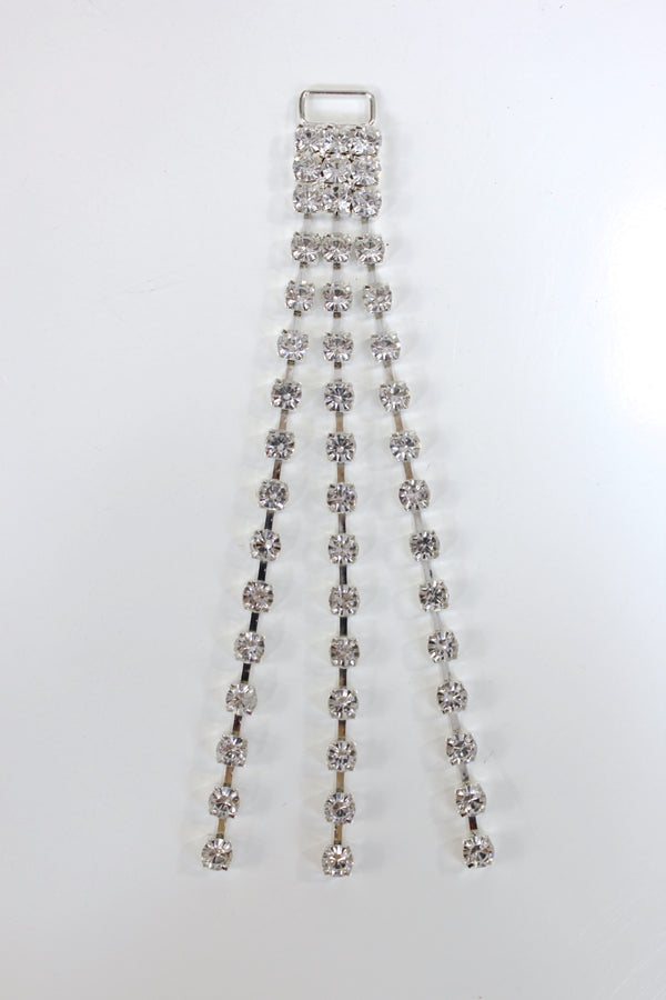 Triple Rhinestone Chain Loose Lines Connector