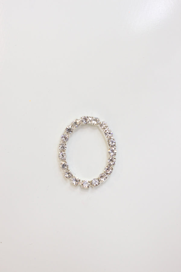 Crystal Clear Rhinestone Oval Connector
