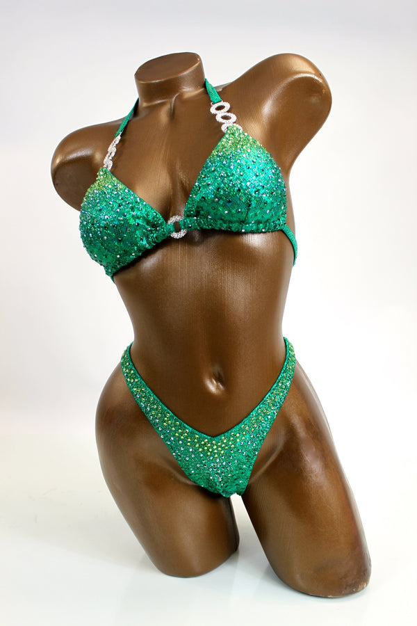 Emerald Ombre Figure Competition Suit