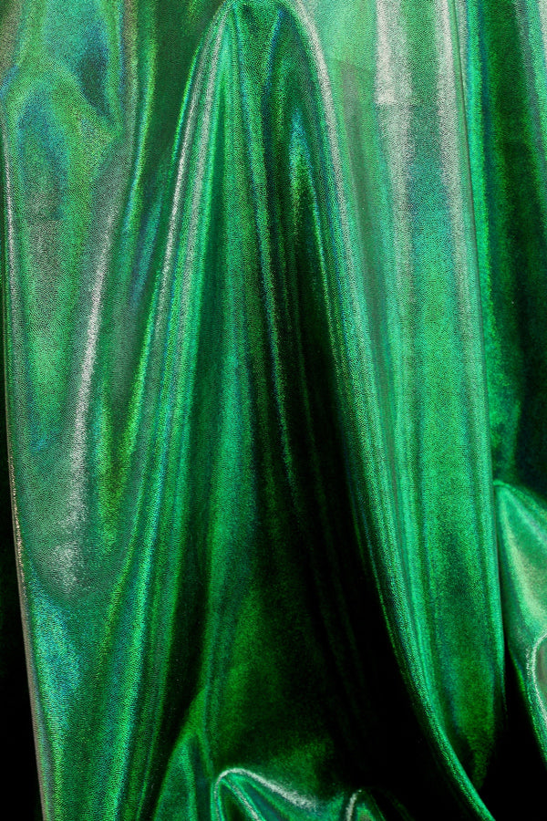 Deep Green Metallic Spandex