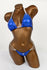 Royal Blue Hologram Spandex Bikini Suit
