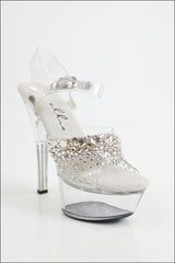 Final Sale Cascading Rhinestones Competition Shoes