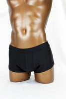 Black Satin Spandex Micro Shorts